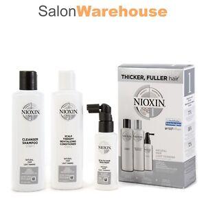Nioxin System 1 Starter Kit Fine Natural Hair Australlian Stockists