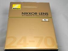 Nikon 24-70 mm f/2.8 ed g AF-S SWM M/A objetivamente nuevo embalaje original