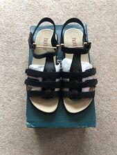 Hotter Sol Size 4.5 EXF Black Combi Sandals
