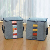 Portable Foldable Storage Bag Clothes Blanket Quilt Closet Organizer Box Pouch