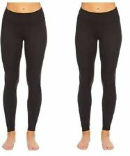 Felina Ladies Wide Waistband Light Weight Leggings, BLACK, X-LARGE