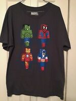 Marvel T Shirt Large Hulk Spider-Man Captain America Minecraft