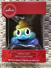 2020 Hallmark Red Box Sparkle Swirl Poop Emoji Christmas Tree Ornament - New