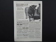 The Breeder's Gazette, Nov. 28, 1906, One Advertising Page, Double Sided #05