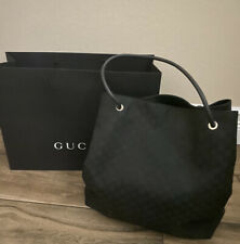 Authentic Gucci Guccissima 152274 Large Nylon Shopper/Tote