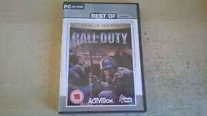 CALL OF DUTY 1 GAME OF THE YEAR - GOTY PC GAME - FAST POST - COMPLETE - VGC