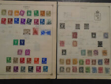 NORWAY COLLECTION ON PAGES USED STAMPS