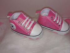 Baby Girls infants Newborn toddler Pink glitter soft bottom sneakers crib shoes
