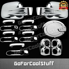 02-07 For Jeep Liberty Mirror+4Drs Handle+Gas+Tailgate+Taillights Chrome Covers