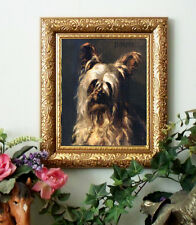 Ellis Yorkshire Terrier Art Print Antique Styl Framed 11X13 Dog Horse