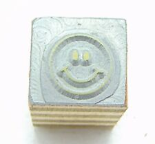 Printing Letterpress Printers Block Small Smiley Face