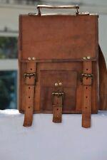 """11""""Men's women's Leather Laptop satchel Vintage Leather messenger Shoulder Bag"""