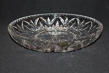 "Waterford SAXONY Lead Crystal Bowl Cake/ Pastry Plate 12"" Platter - NIB"