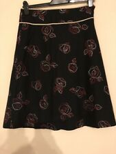 Ladies Size Medium Black & Red Floral A Line Skirt From Eucalyptus