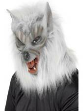 Smiffys Wolf Mask Overhead With Fur - Adult One Size
