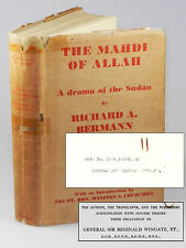 Richard A. Bermann - The Mahdi of Allah, presentation copy from General Wingate