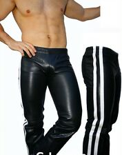 GLS LEDER Jogginghose Lederfutter Lederhose cuir pantalon leather gay *L* 029