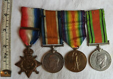 Military WWI 1914 Mons Star & Clasp Trio & Defence Medal Group  Dvr A.Hunt (3445