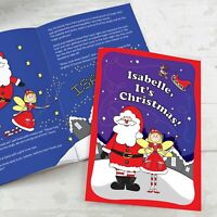 Personalised It's Christmas Fairy Story Children Book Softback Gift Idea Girls