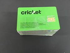 New Cricket 4G LTE Micro Sim Card Good For Activation SKU: SGMN4003 Lot of 100