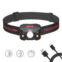 50000LM LED Headlamp Headlight XPE+COB USB Rechargeable Head Torch Camping Lamp