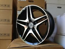 "18"" MERCEDES BENZ AMG BLACK RIMS WHEELS C CLASS C230 C280 C320 C350 4MATIC"