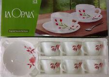 La Opala 12 Pcs Tea Cup & Saucers Set Mug, Coffee Cup Ivory, laopala Diva