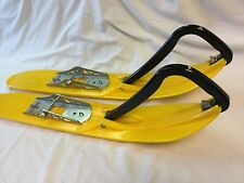 "KIMPEX PLASTIC SKIS SKIDOO REV ZX XP CHASSIS 4"" WOODYS CARBIDE SNOWMOBILE SKIS"