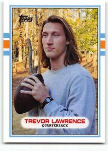 2021 Topps X Trevor Lawrence #27 1989 Topps Football