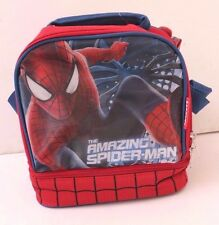 Marvel Spider-Man Dual-Compartment Lunch Bag Box Insulated Lunchbag Lunchbox Red