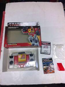 Vintage Transformers G1 Blaster with box vintage 1985 Hasbro No Gun