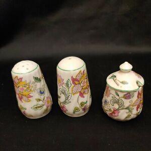 Minton Haddon Hall Salt Pepper Shaker Set Bone China England