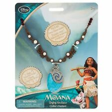 Disney Store Redesigned Princess Moana Singing Shell Necklace with Sounds