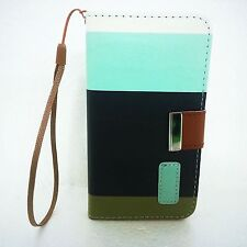 For Apple iPhone 4s 5 5s 5c 6s Luxury Flip Wallet Leather Case Cover  Book Pouch