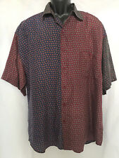 NWT Max Deco Sueded Silk Colorblock Shirt Easy Care SZ L/XL