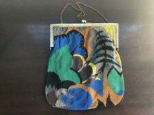 Antique Beaded Bag - Frame Bag, Purse, Art Deco, Modernist, Gold