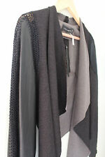 NWT Stella & Jamie Designer Sexy Leather Knit Crochet Combo Rio Dress Jacket M