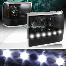 SMOKE LENS LED 1-PIECE HEADLIGHTS+BUMPER+CORNER LAMPS FIT 91-94 FORD EXPLORER