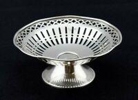 German .800 Silver Pierced Small Bon Bon Pedestal Base Small Dish