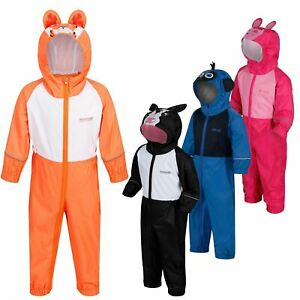 Regatta Kids Charco All in Onezee Waterproof Puddle Suit Animal style Boys Girls
