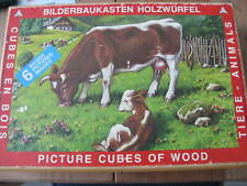 Bilderbaukasten Holzwurfel Wood Picture Cubes Animals