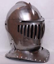 16GA Steel Larp Medieval Close Armor Helmet Knight Warrior Bettle Helmet Costume
