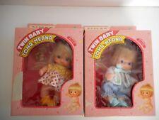 SCARCE SUPER RARE 1980S SEKIGUCHI TWIN BABIES BIG EYES TOMA & MEANA JAPAN MADE