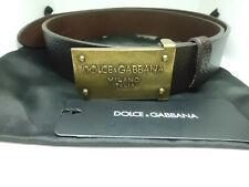 Dolce & Gabbana Cintura Uomo  Leather Belt Logo Originale Nuova
