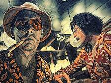 Fear and Loathing in Las Vegas Johnny Depp Movie Art Poster 18x24