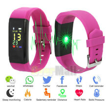 Fitness Smart Watch Activity Tracker Heart Rate For Android iOS Women Men Purple