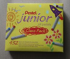 Pentel Junior Artist Oil Pastels Class Pack 12 vibrant colours 36 sticks of each