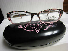 Phoebe Couture  Eyeglass Frames P250  PINK  52-15-135 With  Case