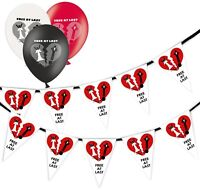 Divorce Happy Bride Bunting 15 flags & Pack of 5  Printed Latex Asst Balloons