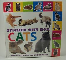 Cats Sticker Gift Box New Covent Garden Books Album & 190+ Stickers